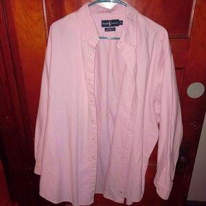 Ralph Lauren Yarmouth 18 34/35 Dress Shirt Pink